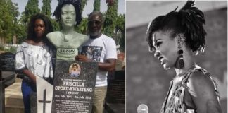 Family shares sad photos of Ebony Reigns finished tomb at Osu cemetery