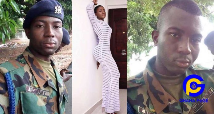 Photos of Fella Makafui's soldier ex-boyfriend she dumped after YOLO Fame hits social media [SEE]