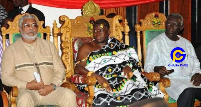 Video: Rawlings vowed never to speak to Kufuor, I brought peace between them-Otumfour reveals