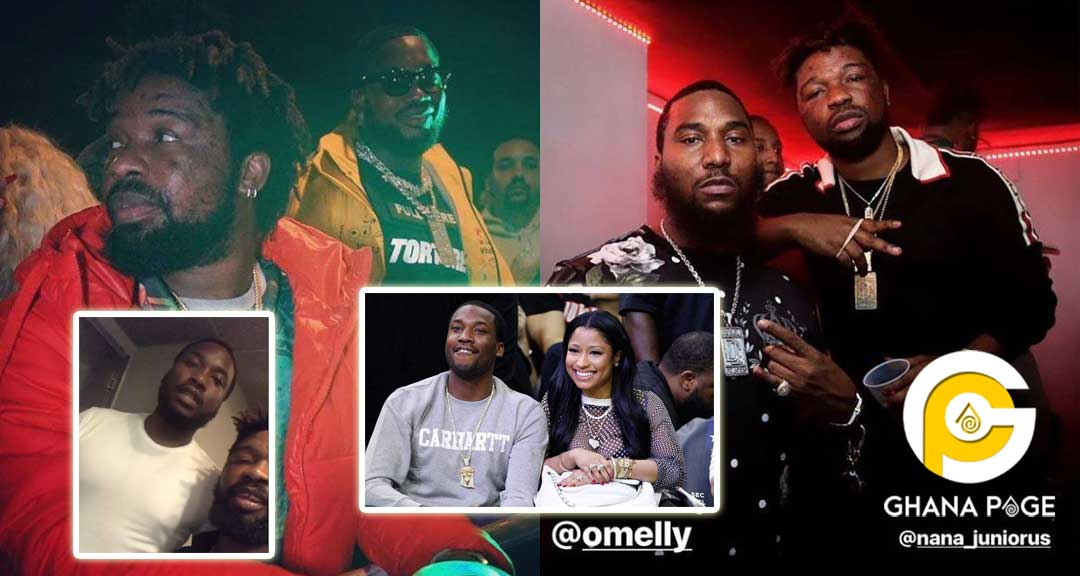 Photos of Junior US chilling with Meek Mill,Omelly, other US stars pop up