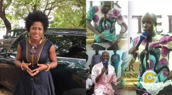 Patience Nyarko descends on Prophet Kofi Oduro for pant demonstration