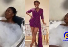 Wild bedroom video of actress, Salma Mumin touching her Tonga inside her Jacuzzi pops up [Watch]