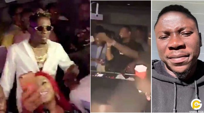 Shatta Wale requests four Stonebwoy songs from DJ in a club