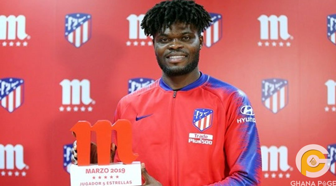 Thomas Partey crowned Atletico Madrid player of the month