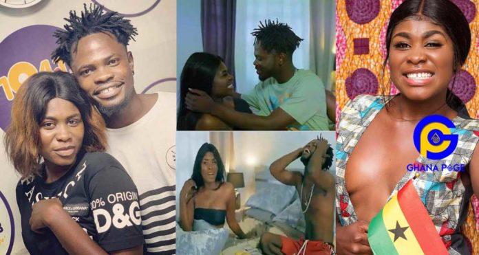 "Maame Yaa Jackson and Fameye 'chop' crazy love in the visuals of ""Ehwe Papa"" [Watch]"