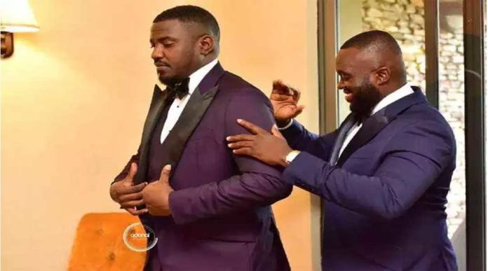 DUMELO 7 696x387 - Photos you missed from John Dumelo & Gifty's white wedding