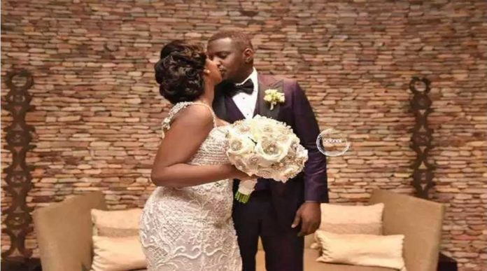 DUMELO 8 696x387 - Photos you missed from John Dumelo & Gifty's white wedding