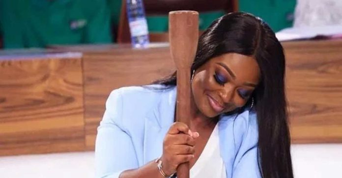 Jackie Appiah pounds fufu in suit