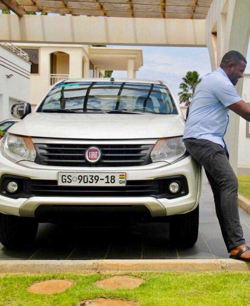 John Dumelo 1 - John Dumelo puts his huge mansion and expensive cars on display
