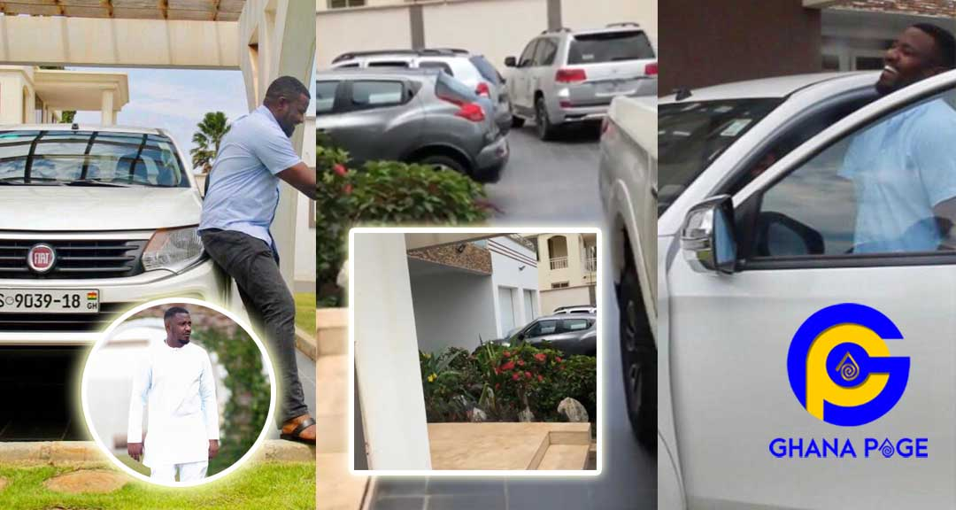 John Dumelo cars and mansion - John Dumelo puts his huge mansion and expensive cars on display