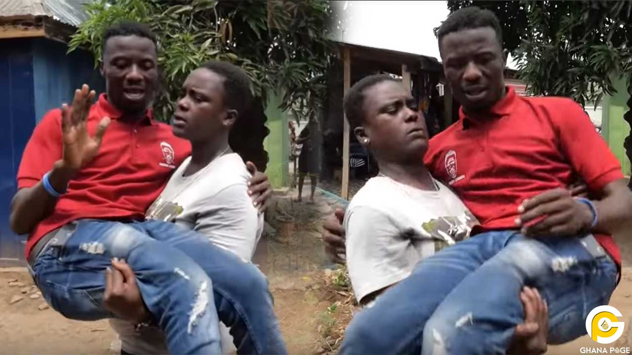 Kwaku Manu ghetto - Ghetto Queen carries Kwaku Manu like a baby in an aggressive interview