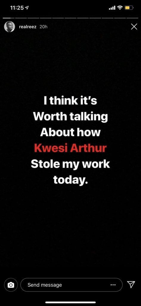 Kwesi Arthur 2 - Graphic designer accuses Kwesi Arthur of stealing his artwork