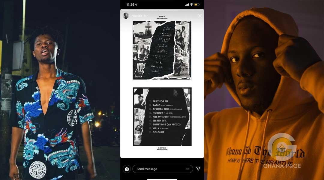 Kwesi Arthur and Reez - Graphic designer accuses Kwesi Arthur of stealing his artwork