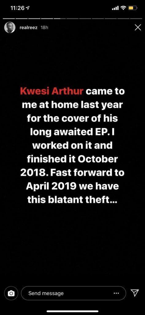 Kwesi Arthur - Graphic designer accuses Kwesi Arthur of stealing his artwork