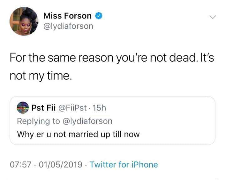 Lydia Forson - Lydia Forson replies a fan who asked her why she is still not married