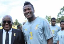 Nana Addo and Asamoah Gyan