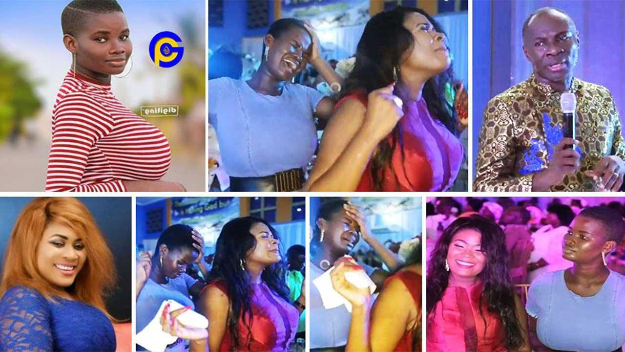 Nayas and Pamela Odame became highly spiritual at Prophet Badu Kobi's birthday party
