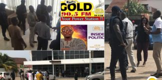 Video: Radio Gold & Radio XYZ go off air during NDC press conference as NCA shuts them down