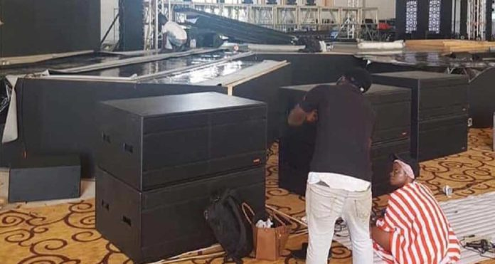 Inside view of the new dome built to host this year's Vodafone Ghana Music Awards [Photos]
