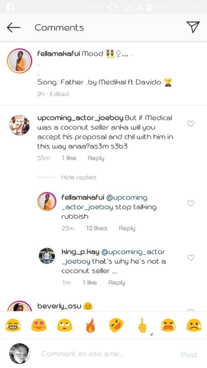 fella sc - Would you have accepted medikal's proposal if he were a coconut seller? – Fan to Fella Makafui