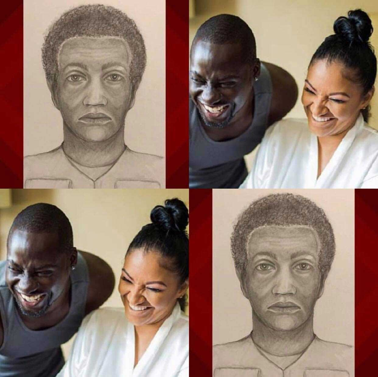 sketch man killed Chris Attoh wife - Maryland police release sketch of the man who killed Chris Attoh's wife