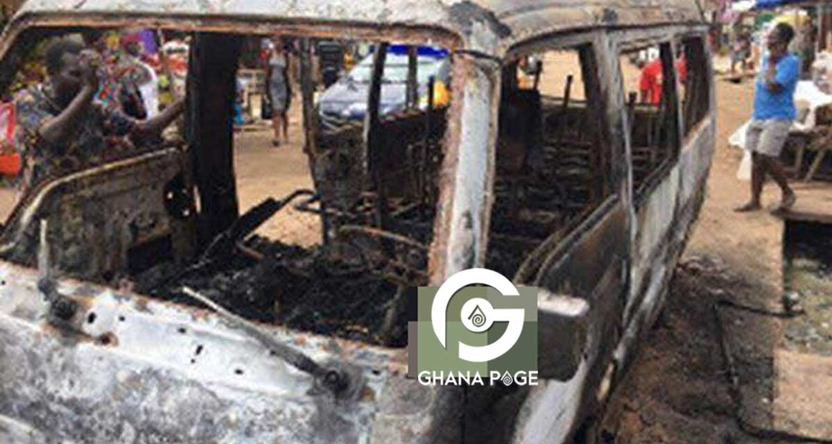 Two bus conductors burn to death at Odorkor