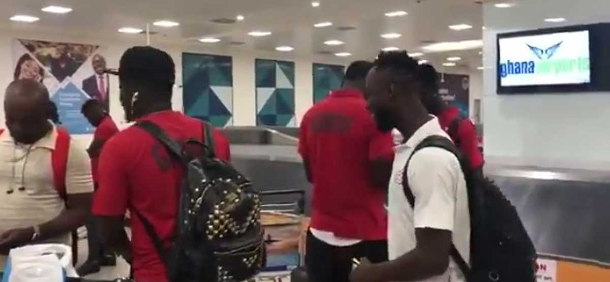 Black Stars arrive in Ghana after AFCON early exit