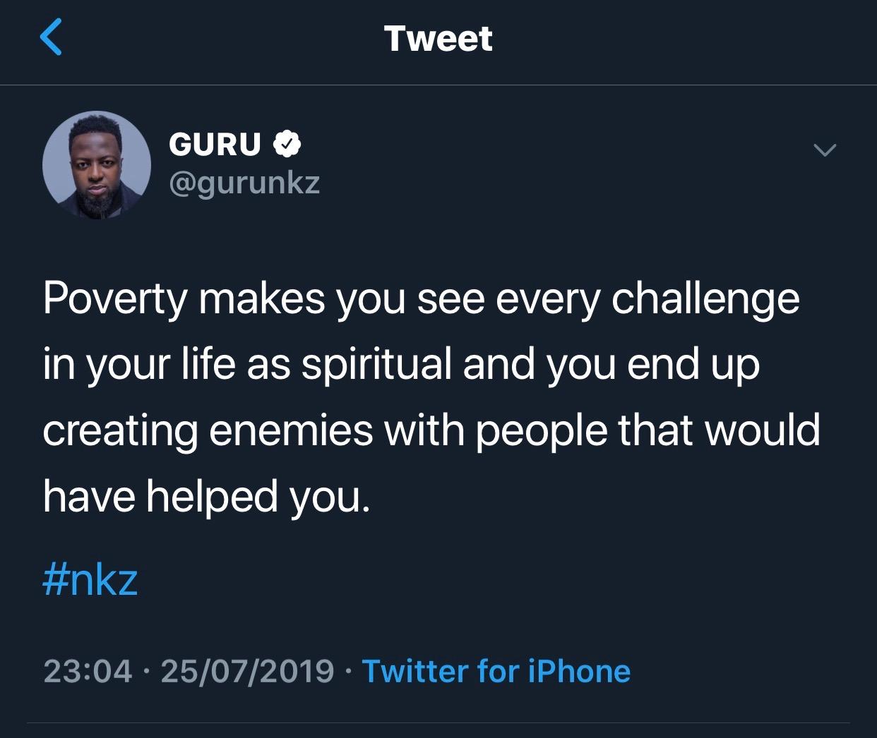 Poor People See Every Challenge As Spiritual - Guru 2