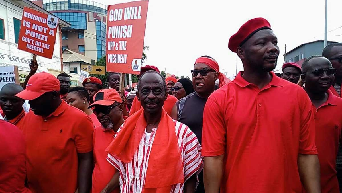 Asiedu Nketia, Ablakwa and others wail at Kum Y3n Pr3ko demonstration
