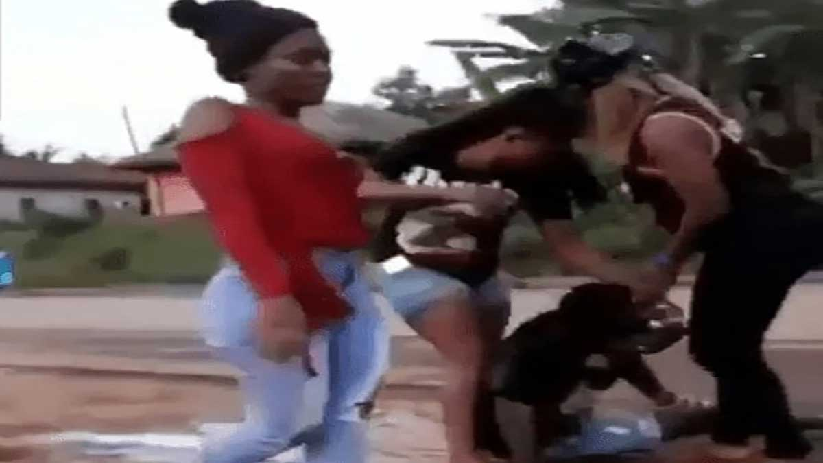 Three slay queens friends ganged up to beat man who chopped them