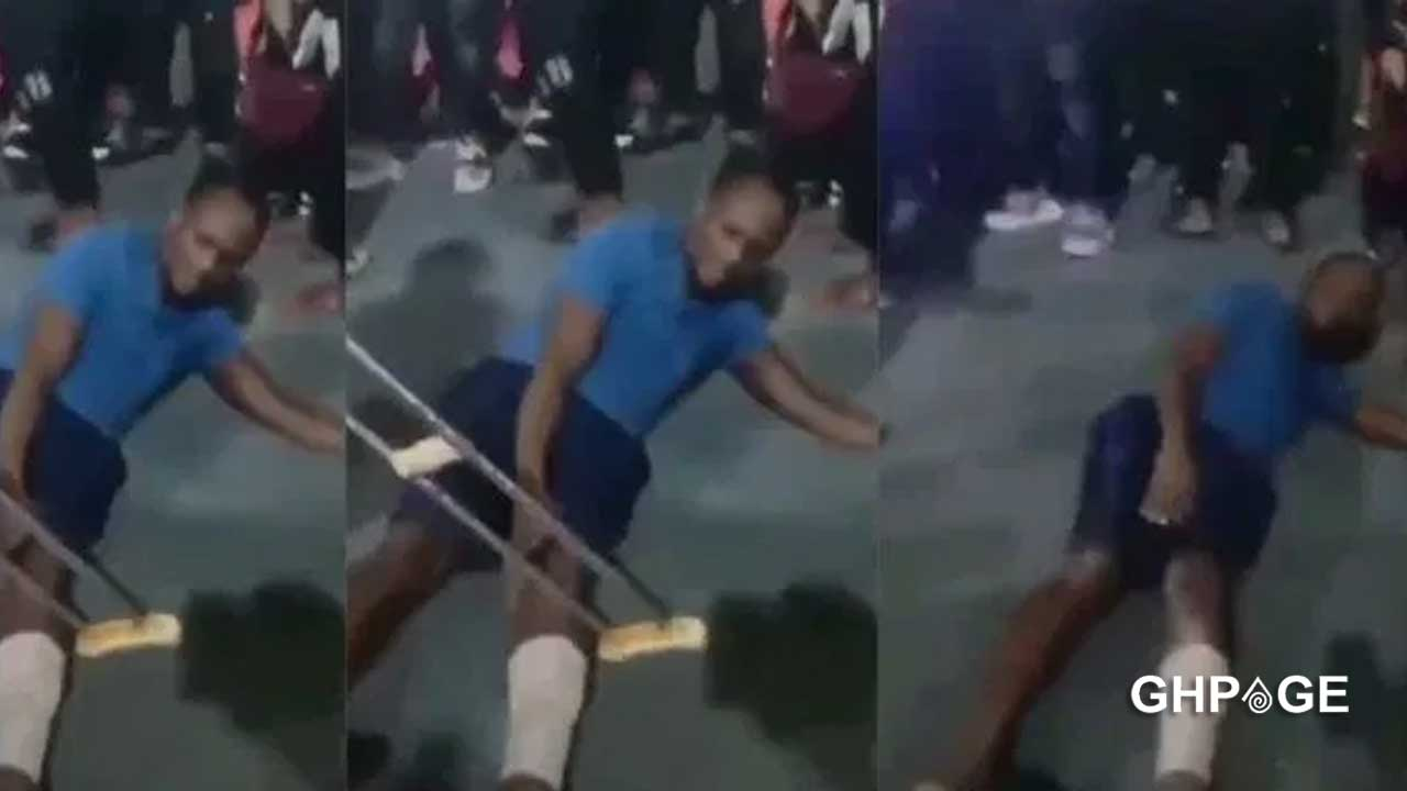 Cripple receives healing after been beaten with his own crutches