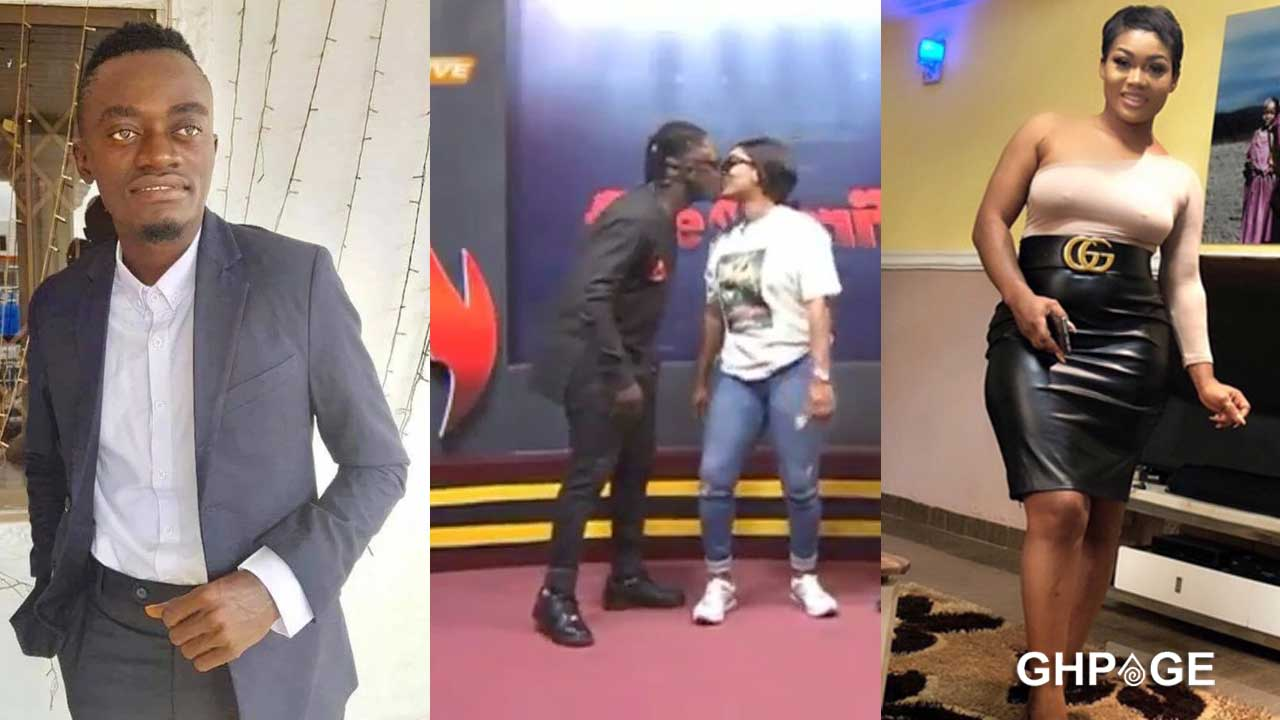 Countryman Songo kisses Lil Win's girlfriend on live TV (Video)