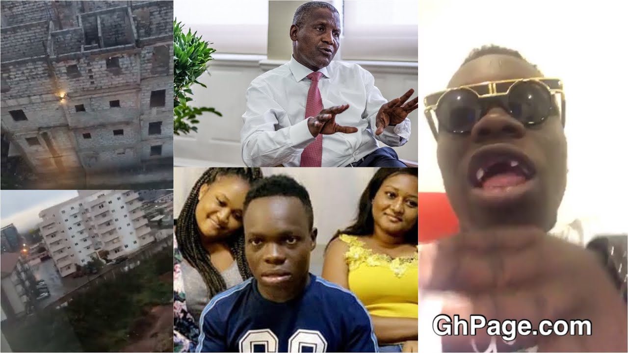 Shatta Bandle shows off his new estates after Dangote replied him