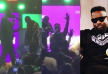 Video: Sarkodie goes down on his knees while performing at KNUST to thank Kumasi fans