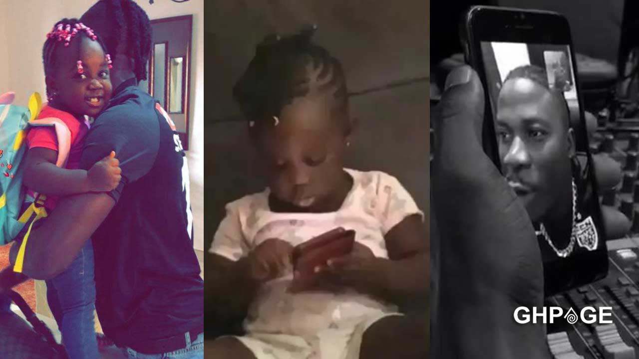 Video of Stonebwoy's daughter Jidula making phone call to dad pops up
