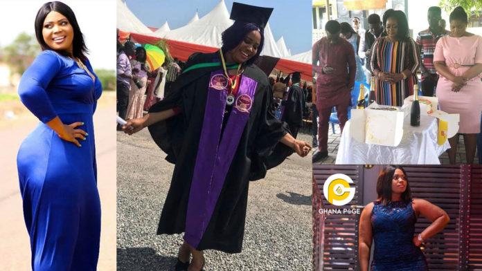 Beautiful photos drop as Christiana Awuni's big booty daughter graduates from Kaaf University