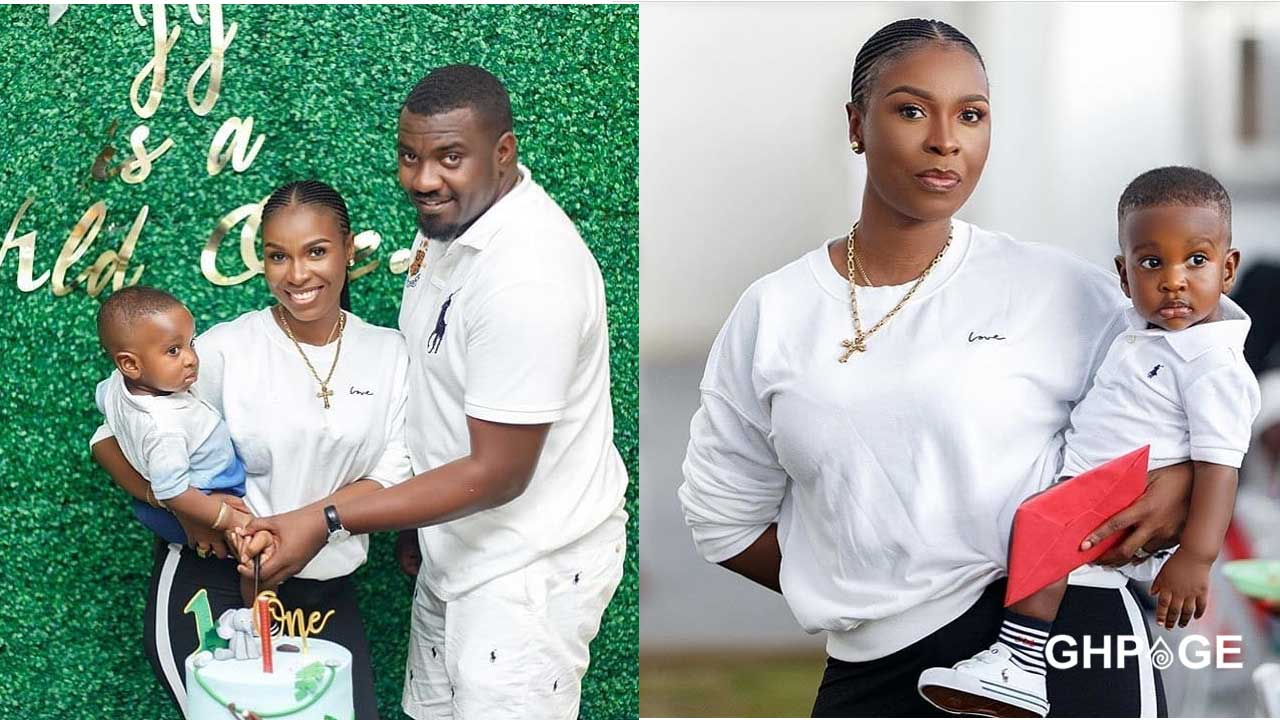 John Dumelo's son celebrates his first birthday in a unique style (Photos)