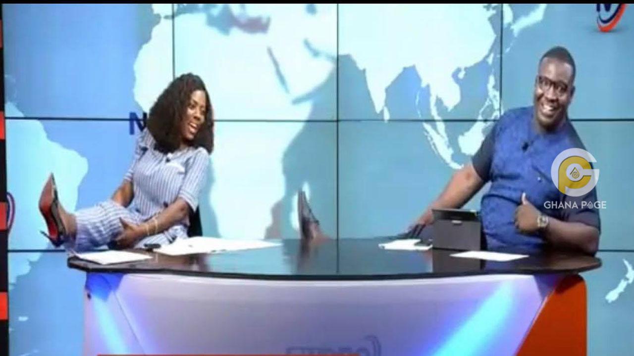 Nana Aba Anamoah & Francis Abban dance Pulele on live TV to celebrate Terry Bonchaka