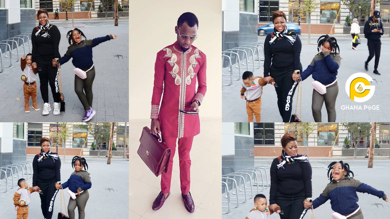 Photos of Rev. Obofour's wife, Ciara & her kids chilling abroad goes viral