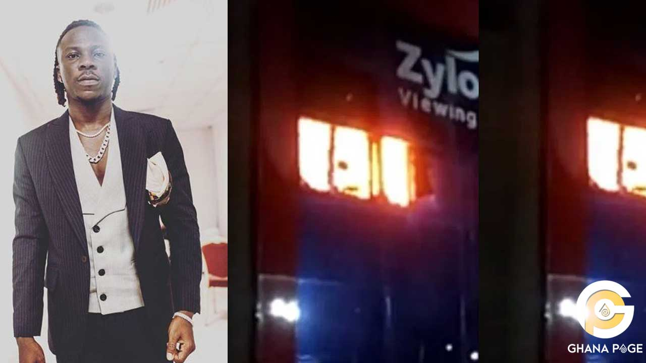 Stonebwoy reacts after fire gutted Zylofon media building