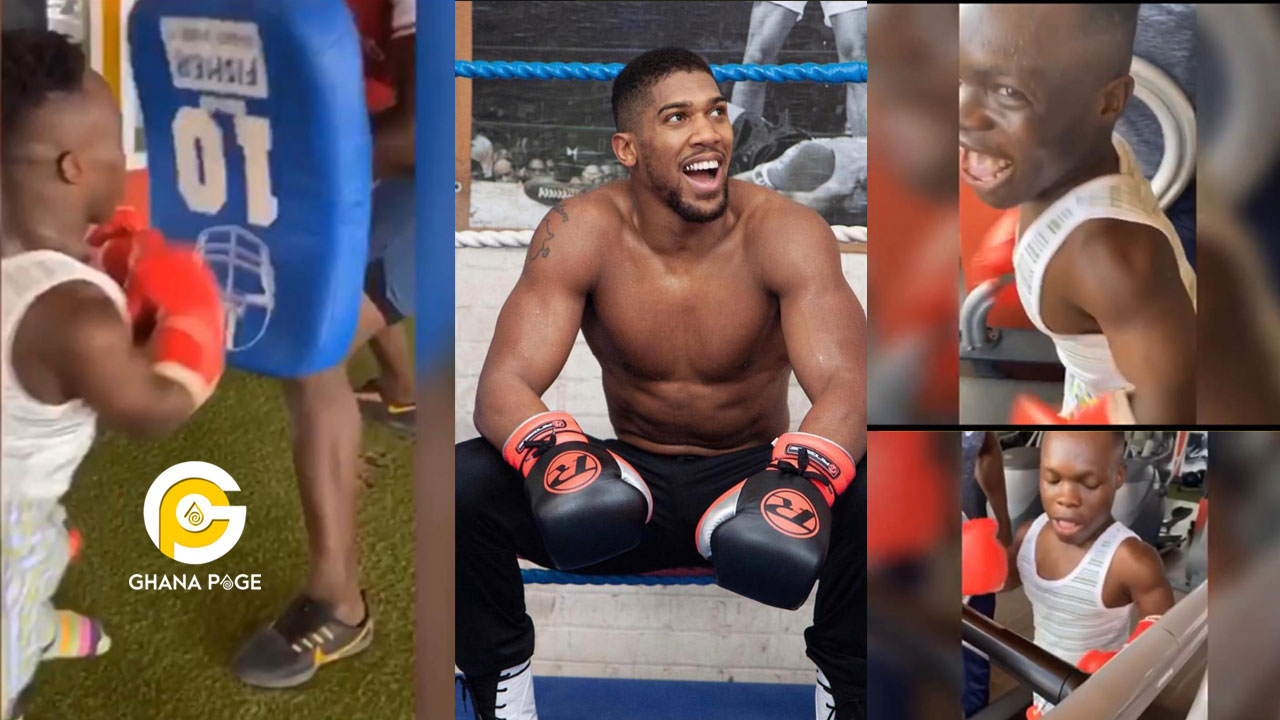 Shatta Bandle threatens to beat Anthony Joshua as he trains at the gym