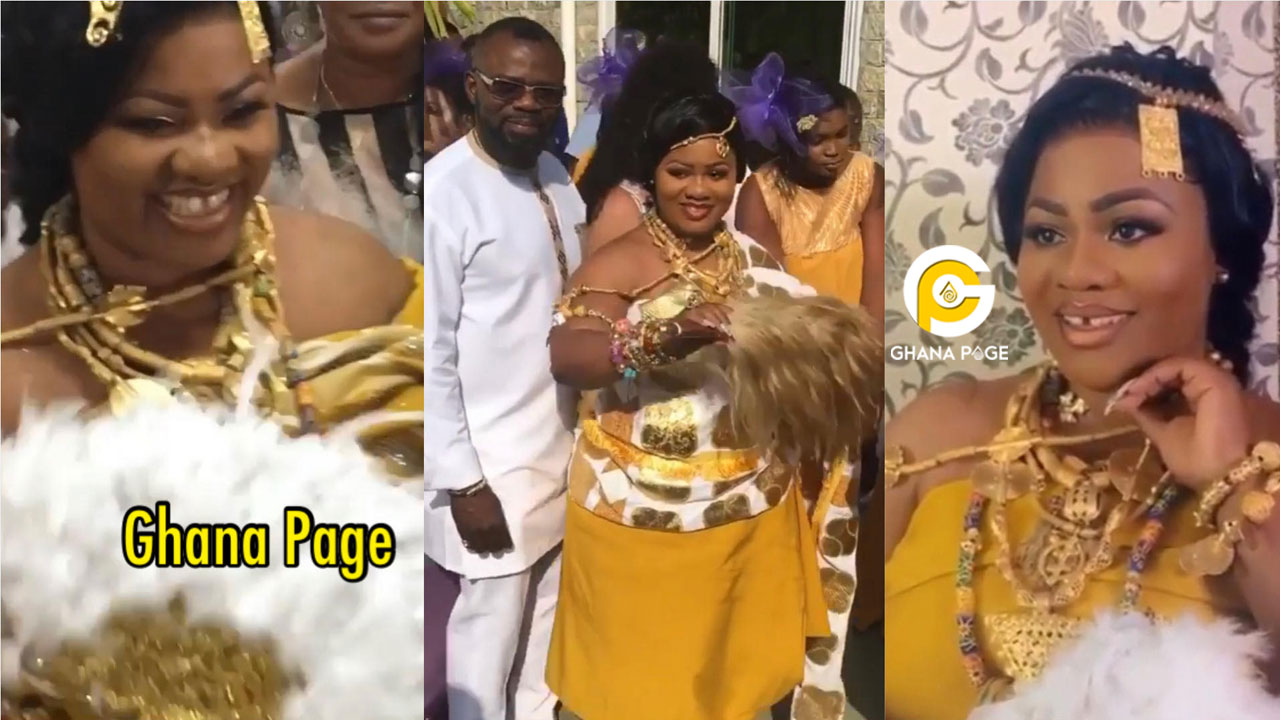 Beautiful videos from Obaapa Christy's traditional wedding ceremony