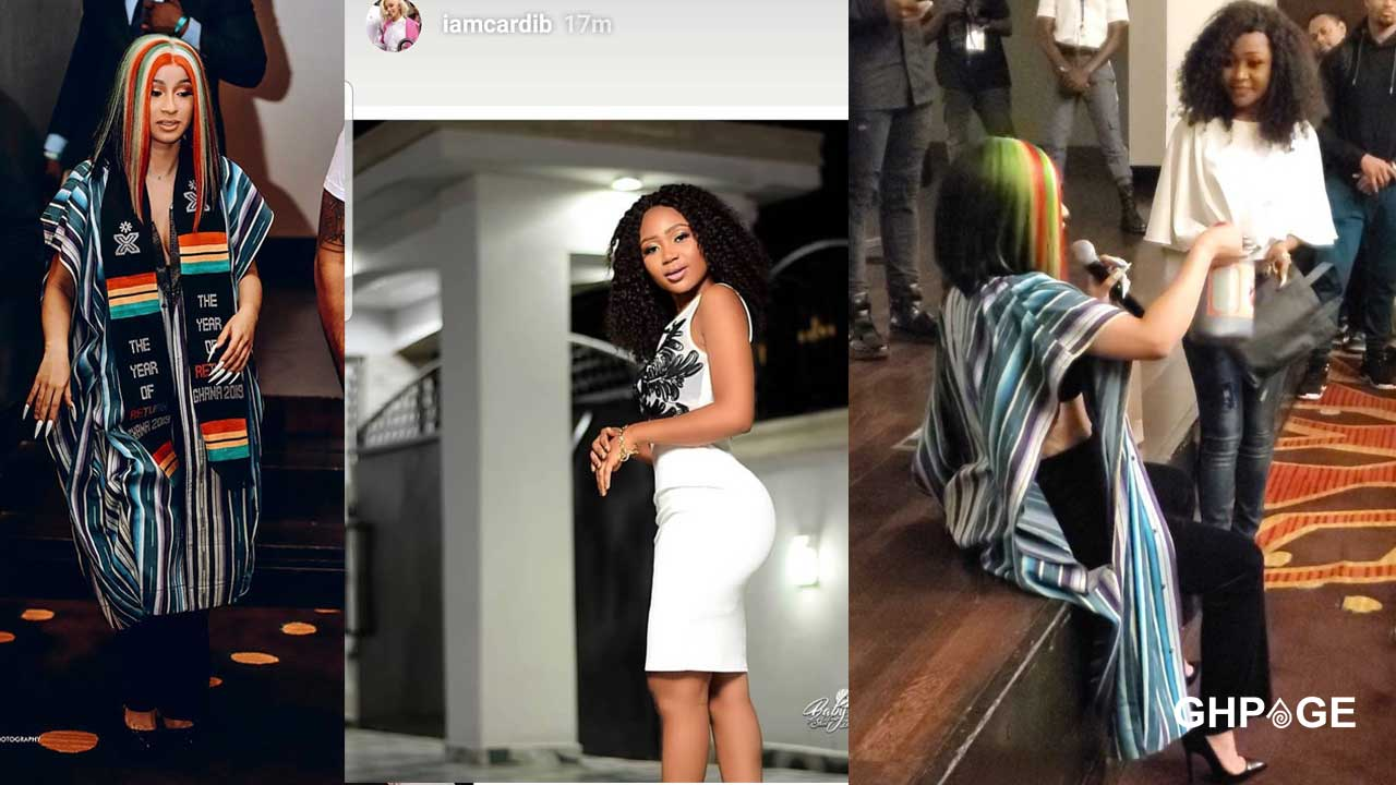 Akuapem Poloo all excited after Cardi B posted her pic on social media page