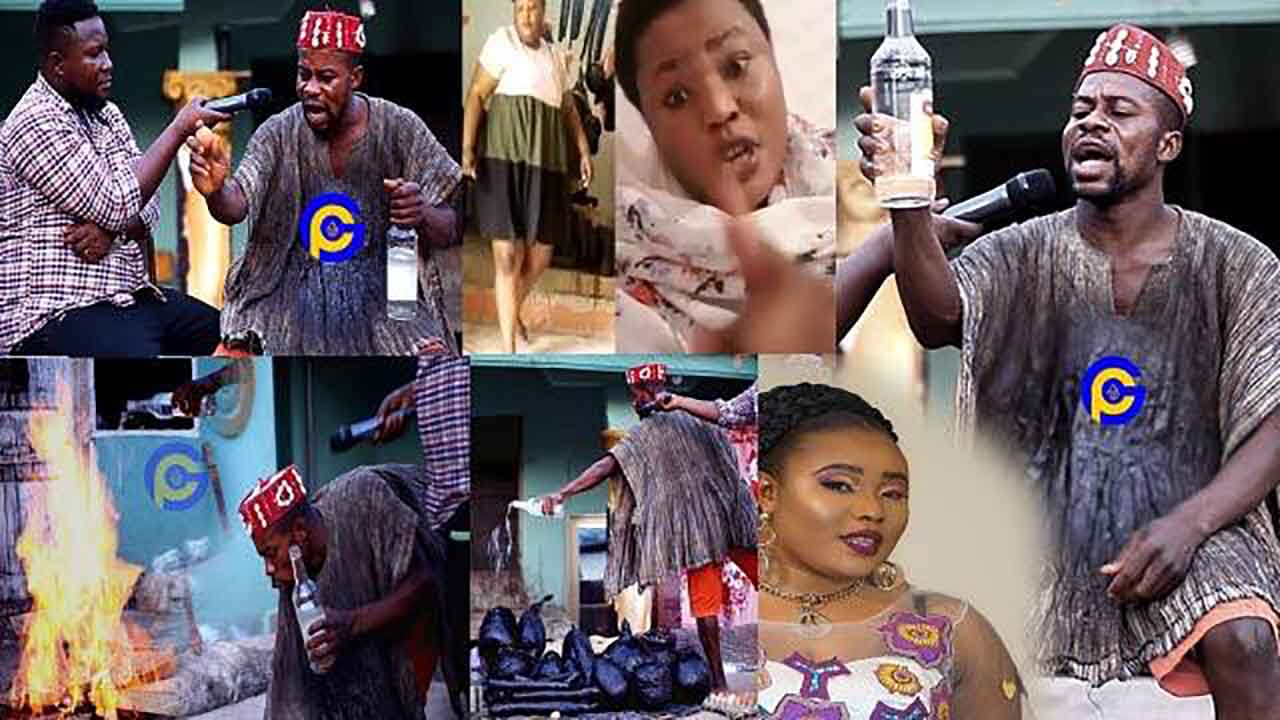 Komfo Showboy reacts to his leaked video with gospel musician Ohemaa Jacky