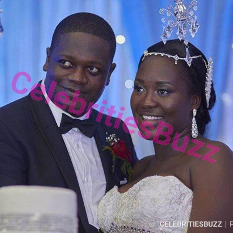 The former husband of Chantelle, Charles Ampofo and his current wife