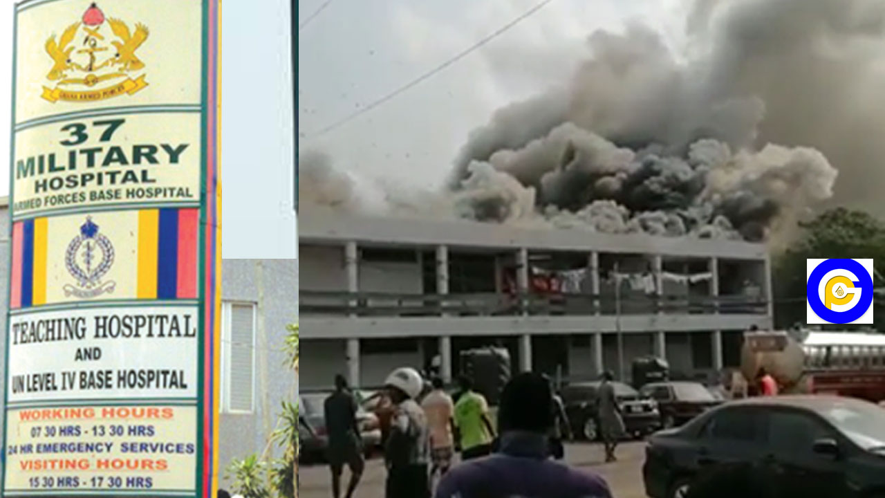 Fire guts 37 Military hospital, some patients in critical condition