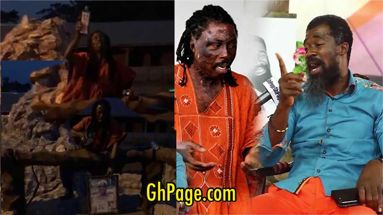 Kwaku Bonsam curses Eagle Prophet on his mother's grave over his death prophecy