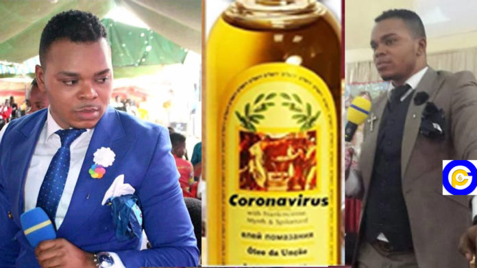 Angel-Obinim-has-a-cure-for-the-Coronavirus,-he-outdoors-Anointing-Oil-as-the--remedy