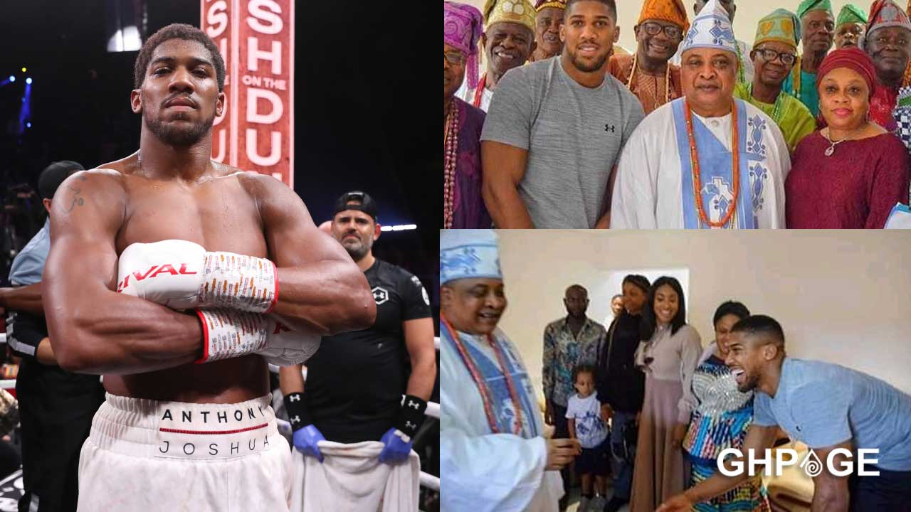 Anthony Joshua goes back to Nigeria to register for a National ID card