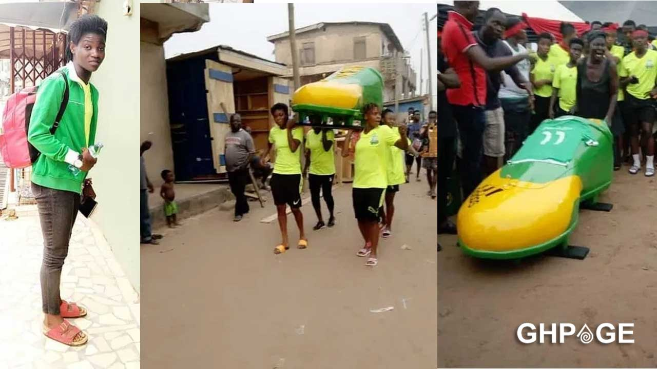 Ghanaian female footballer laid to rest in a football boot casket